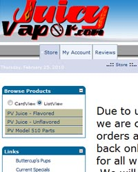 Juicy Vapor e-liquid store